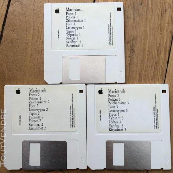 Apple logiciel macintosh polices 1/2/3