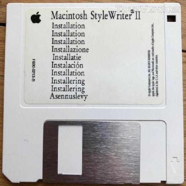 Apple macintosh style writer ii installation