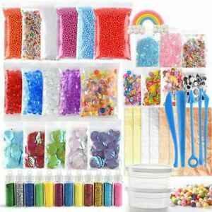 Fepito 49 pcs slime kit y compris des perles fishbowl, yeux