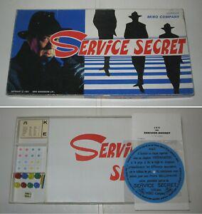 Jeu,service secret,miro,vintage 1965,fr,spy ring,1st