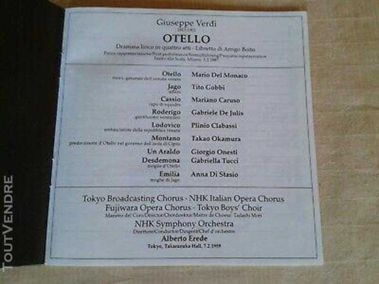 6 cd verdi otello rossini italienne à alger donizetti