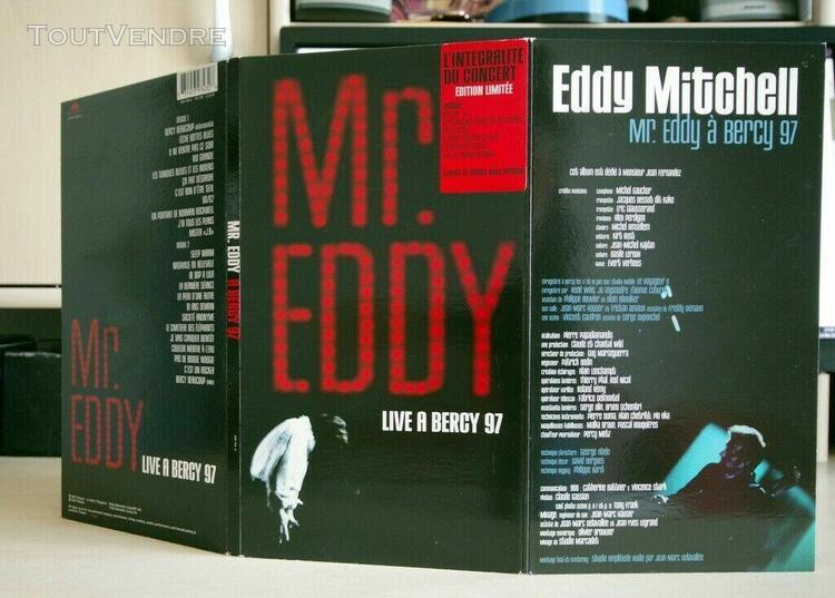 "Eddy mitchell ""mr eddy live à bercy 97"" édition limitée"