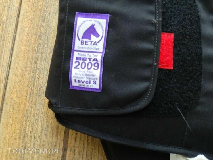 Gilet protection équitation - 14 ans - fouganza - niveau 3