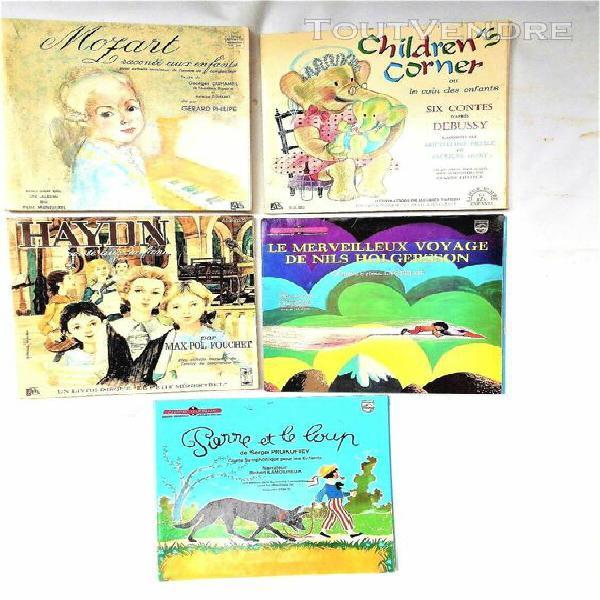 Lot 13 lp pour enfants (8 disques 33t /30 cm & 5 disques 3