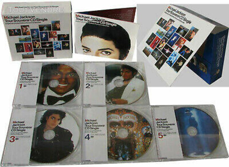 Michael jackson coffret picture cd box set souvenir limited