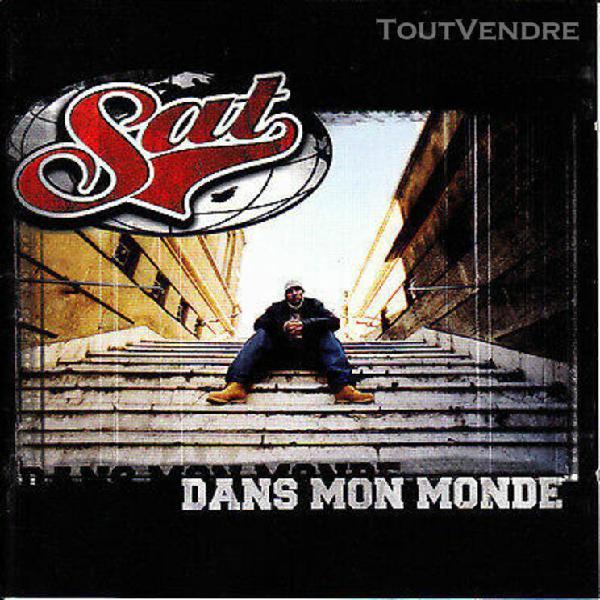 "Sat ""dans mon monde""cd album 17 tracks 2002"