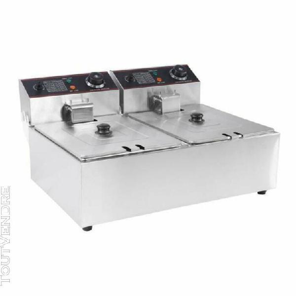 12l friteuse Électrique pro machine À frite poules double