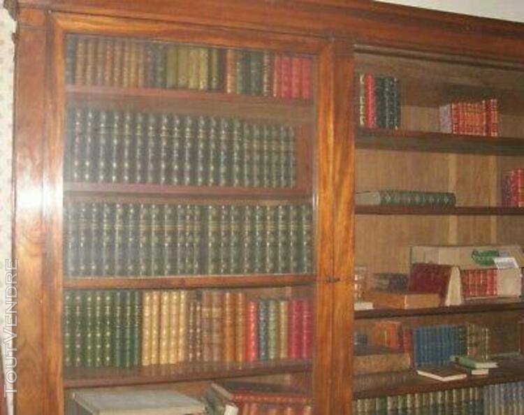 Grande bibliotheque en acajou à 2 corps (sur - bradee)