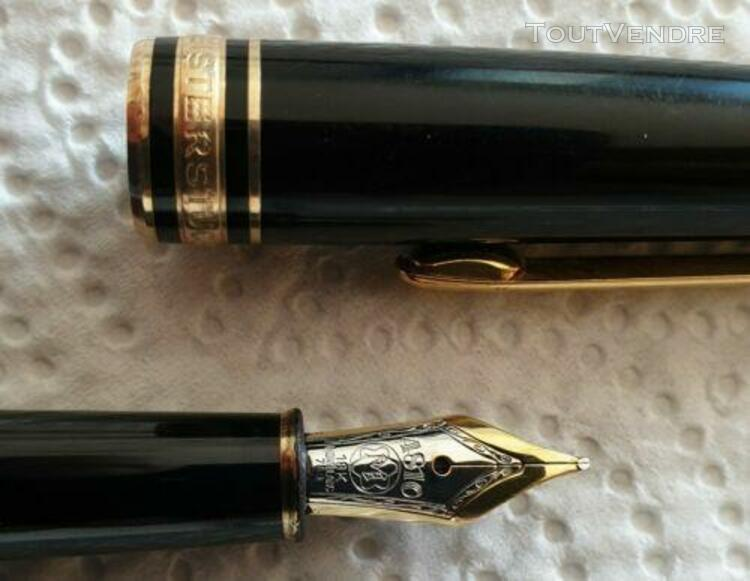 Stylo plume mont blanc meisterstuck 146 plume or 18k