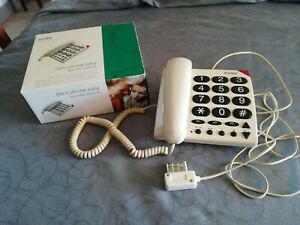 Téléphone filaire doro phone easy blanc à grosses touches