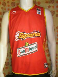ancien maillot camiseta li-ning basket espana fiba europe
