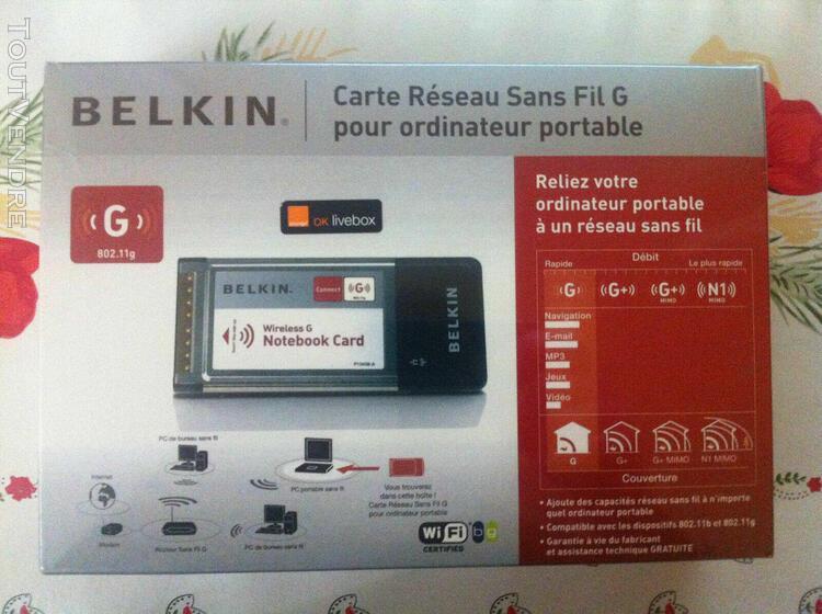 carte réseau wifi sans fil g+ belkin pour portable