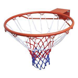cerceau panier basket ball avec filet orange