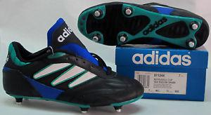 chaussures foot vintage adidas bernabeu années 80 neuf