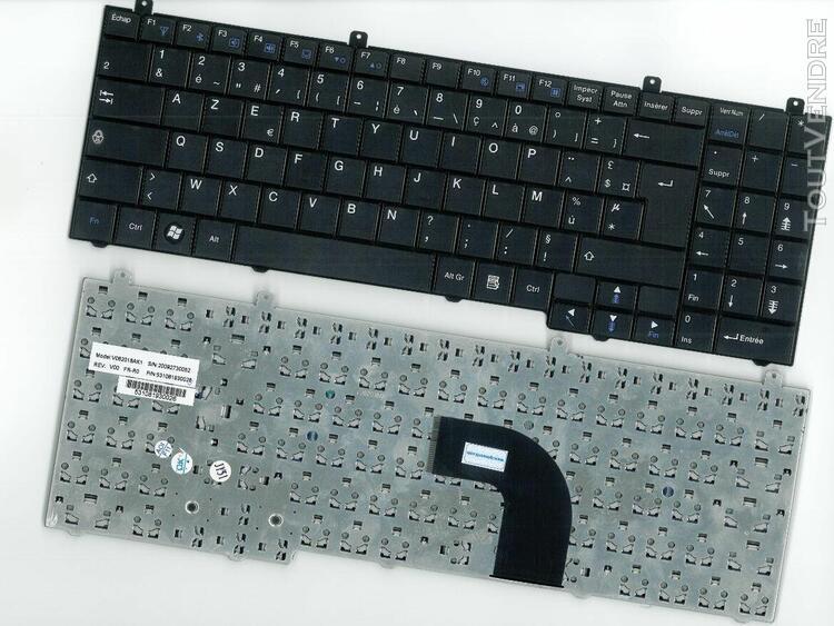 clavier azerty français pour medion mim2270 mim 2270
