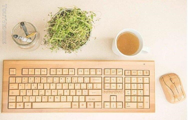clavier en bois qwerty