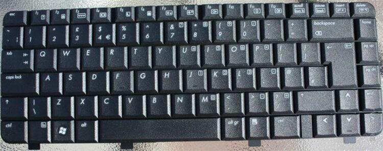 hp notebook pc 550 noir uk clavier pour ordinateur portable