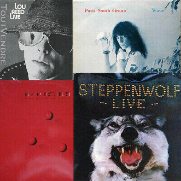 Lou reed live + patti smith group wave + rush hold your fire