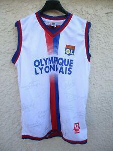 maillot débardeur olympique lyonnais ol lyon n9 signé cris