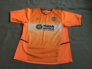 maillot de football du valence cf nike orange taille m