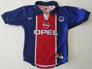 maillot psg opel taille 8/10 ans collector authentique.