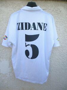 maillot real madrid 2002 zidane n°5 camiseta vintage maglia