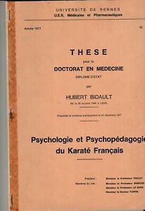 Psychologie & psychopédagogie du karate français/thèse