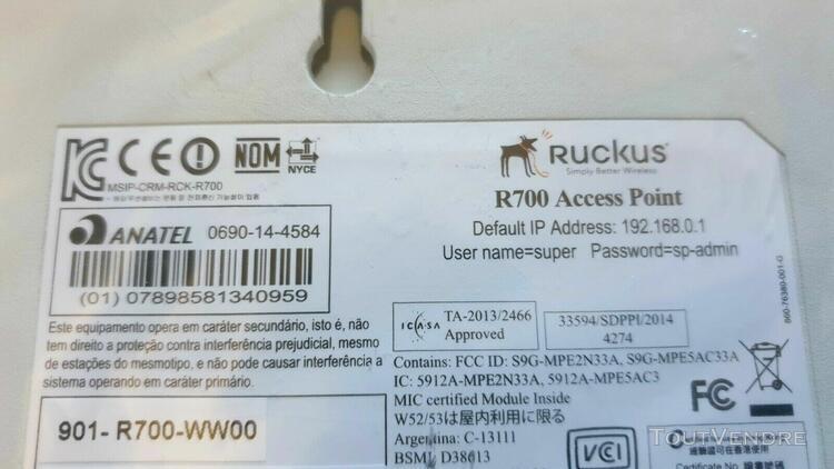 ruckus zoneflex r700 wireless access point 901-r700-ww00