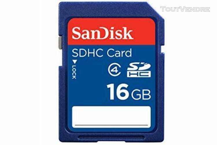 sandisk sandisk 16 go carte mémoire sdhc classe 4