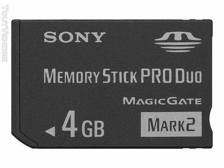 sony sony - carte mémoire flash - 4 go - memory stick pro
