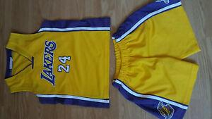 tenue basketball enfant kobe bryant lakers taille 5-6ans