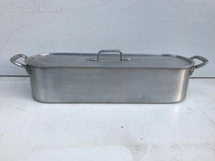 ancienne poissonnière alu + anses métal cuisine vintage