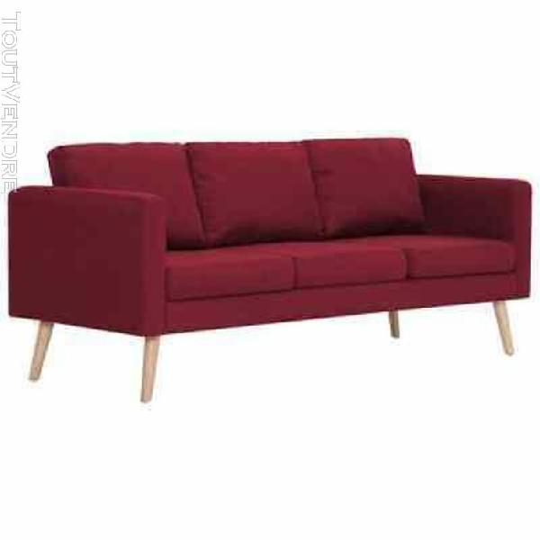 Canap tissu rouge places offres ao t clasf - Canape rouge bordeaux ...