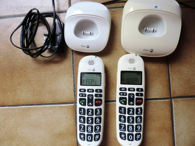 Doro phoneeasy 100w duo blanc téléphone fixe sans fil