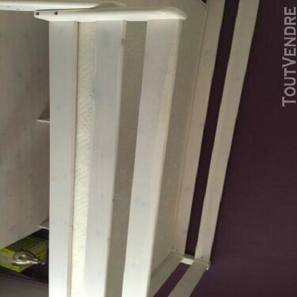 Ensemble lit mezzanine conforama 120 x 190 cm avec bureau, e