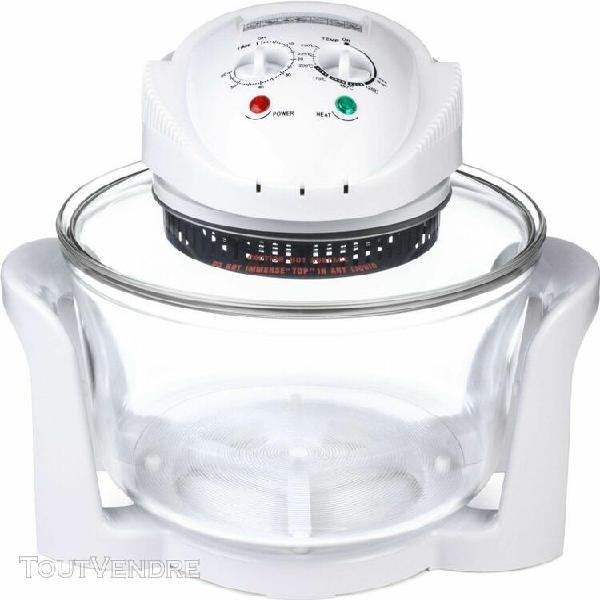 four halogène premium de 12 litres en blanc & ampoule de