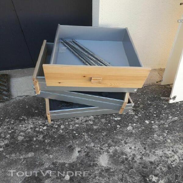 fournitures ikea - 4 tiroirs avec glissières pour colonne
