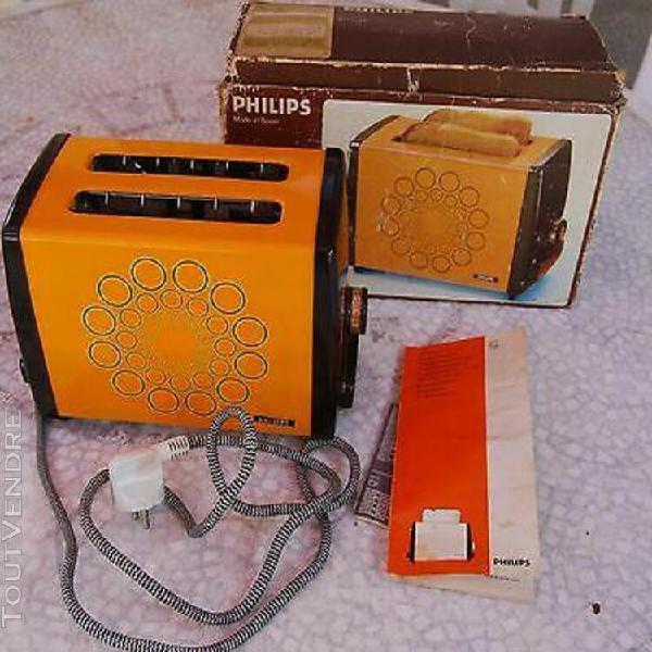 grille pain orange philips hd 4149 année 70
