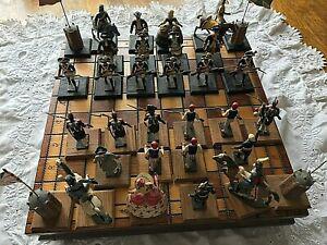 Jeu d'échecs napoléon 1er plomb trésor du patrimoine