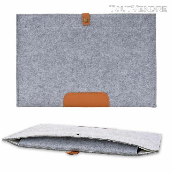 Laptop sleeve sac en feutre de laine housse coque pour macbo