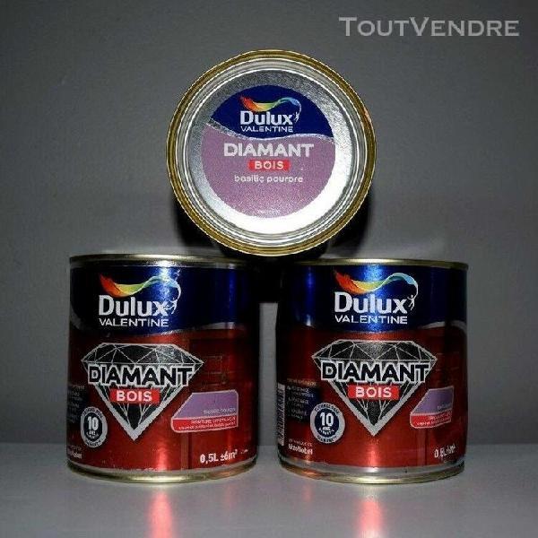 """lot peinture bois dulux valentine diamant """"basilic pourpre"""""""