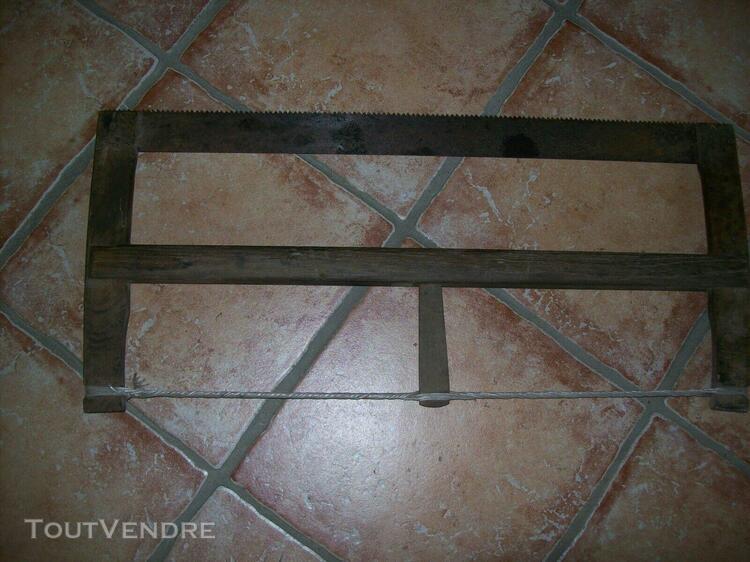 scie à bûches ancienne / vieil outil ancien brocante art