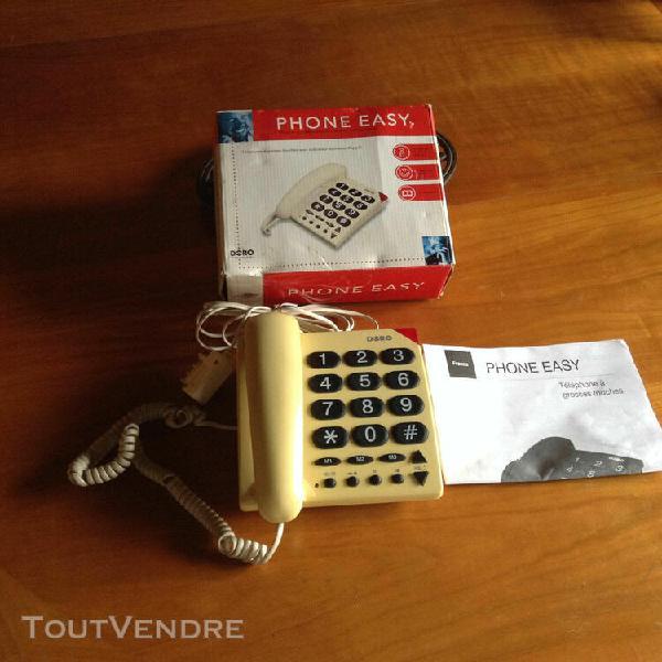 Téléphone filaire, grosses touches, doro phone easy 311c