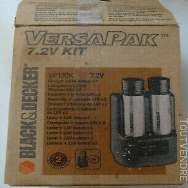 vp130k versapack- chargeur + batteries 3,6v x 2 - black & de