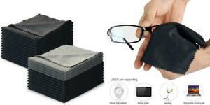 Lot de 50 chiffons en microfibre antistatiques pour nettoyer les lunettes les t/él/éphones et les /écrans dordinateur Bleu 10 cm les appareils /électroniques