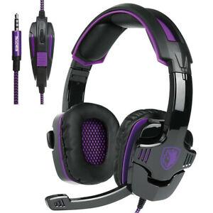 Sades sa930 3.5mm pc gaming casque headphone noise cancel