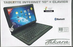 Tablette takara mid210h + clavier bluetooth + housse