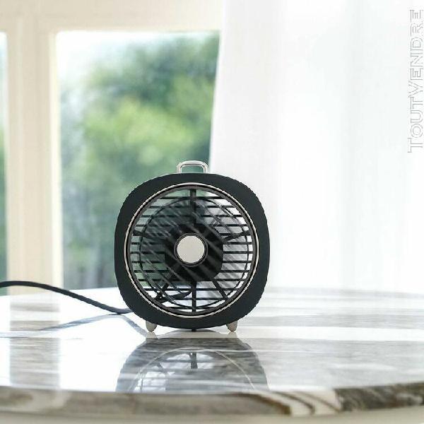 Monde @ mini desktop rotating fan led veilleuse usb recharge