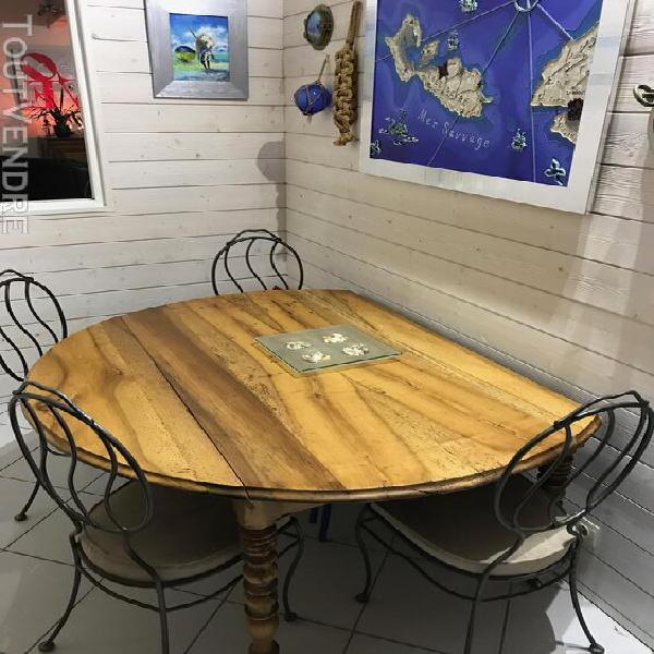 table ronde ancienne offres juillet clasf. Black Bedroom Furniture Sets. Home Design Ideas