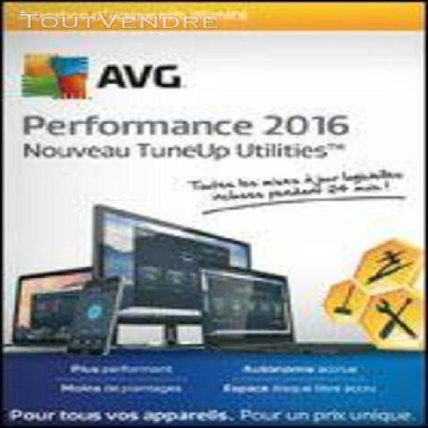 avg tuneup performance - 1 an - logiciel en téléchargement